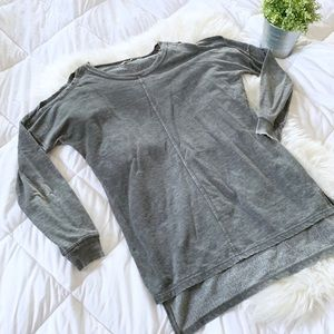 Chance or Fate | Cold Shoulder Tunic Sweatshirt